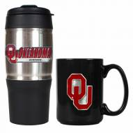 Oklahoma Sooners Travel Tumbler & Coffee Mug Set