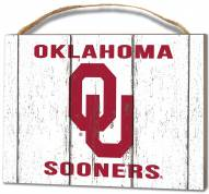 Oklahoma Sooners Weathered Logo Small Plaque
