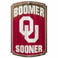 Oklahoma Sooners Wood Sign