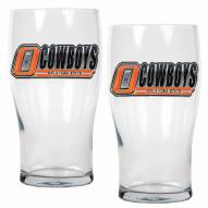 Oklahoma State Cowboys 20 oz. Pub Glass - Set of 2