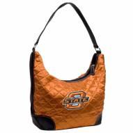 Oklahoma State Cowboys Quilted Hobo Handbag