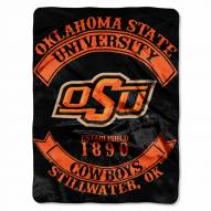 Oklahoma State Cowboys Rebel Raschel Throw Blanket