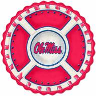 Ole Miss Mississippi Rebels Homegating Ceramic Veggie Tray
