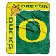 Oregon Ducks Jersey Mesh Raschel Throw Blanket