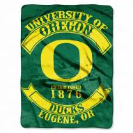Oregon Ducks Rebel Raschel Throw Blanket