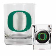 Oregon Ducks Rocks Glass & Shot Glass Set