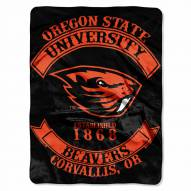 Oregon State Beavers Rebel Raschel Throw Blanket