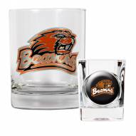 Oregon State Beavers Rocks Glass & Shot Glass Set