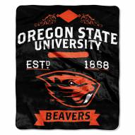 Oregon State Beavers School Spirit Raschel Throw Blanket