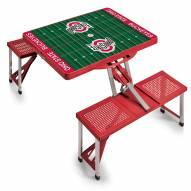 OSU Buckeyes Red Sports Folding Picnic Table