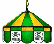 "Green Bay Packers NFL Team 16"" Diameter Stained Glass Pub Light"