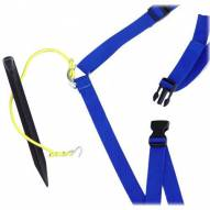 "Park & Sun 1"" Blue Adjustable Volleyball Webbing Boundary"