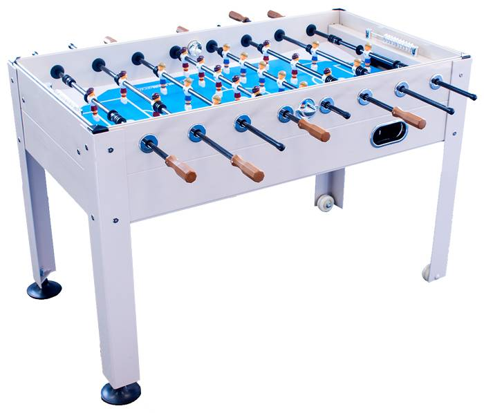 Enjoy The Sunny Outdoors And A Fun Game Of Foosball With Friends On The  Park U Sun Blue Sky Beechwood Outdoor Foosball Table Constructed Of  Beechwood Pvc.