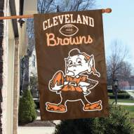Cleveland Browns Brownie Elf NFL Embroidered / Applique 2 - Sided Flag