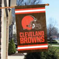 Cleveland Browns Traditional Helmet NFL Embroidered / Applique 2 - Sided Flag