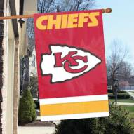 Kansas City Chiefs NFL Embroidered / Applique 2 - Sided Flag