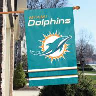 Miami Dolphins NFL Embroidered / Applique 2 - Sided Flag