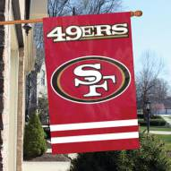 San Francisco 49ers NFL Embroidered / Applique 2 - Sided Flag