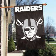 Oakland Raiders NFL Embroidered / Applique 2 - Sided Flag