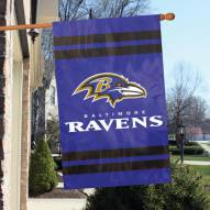 Baltimore Ravens NFL Embroidered / Applique 2 - Sided Flag