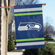 Seattle Seahawks NFL Embroidered / Applique 2 - Sided Flag