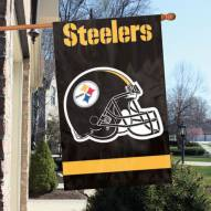 Pittsburgh Steelers NFL Embroidered / Applique 2 - Sided Flag