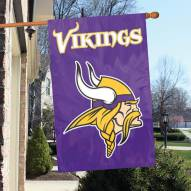 Minnesota Vikings NFL Embroidered / Applique 2 - Sided Flag