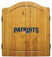 New England Patriots NFL Complete Dart Board Cabinet Set (w/darts & flights)