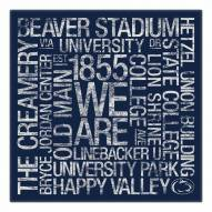 "Penn State Nittany Lions 18"" x 18"" Canvas Subway Art"