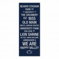 Penn State Nittany Lions Canvas Color Subway Art