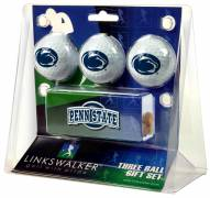 Penn State Nittany Lions Golf Ball Gift Pack with Slider Clip