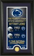 Penn State Nittany Lions Legacy Bronze Coin Panoramic Photo Mint