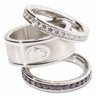 Penn State Nittany Lions Logo Crystal Stacked Ring Set