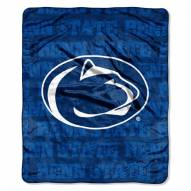 Penn State Nittany Lions Micro Grunge Blanket