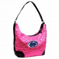 Penn State Nittany Lions Pink NCAA Quilted Hobo Handbag