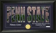 Penn State Nittany Lions Silhouette Bronze Coin Panoramic Photo Mint