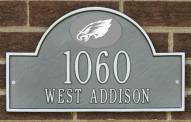 Philadelphia Eagles NFL Personalized Address Plaque - Pewter Silver