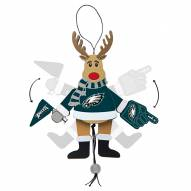 Philadelphia Eagles Cheering Reindeer Ornament
