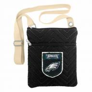 Philadelphia Eagles Crest Chevron Crossbody Bag