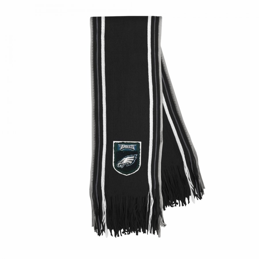 Philadelphia Eagles Crest Stripe Fringe Scarf