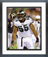 Philadelphia Eagles Darryl Tapp 2011 Action Framed Photo