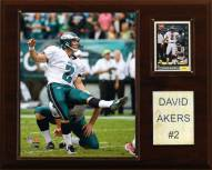 "Philadelphia Eagles David Akers 12 x 15"" Player Plaque"