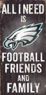 Philadelphia Eagles Football, Friends & Family Wood Sign