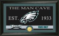 Philadelphia Eagles Man Cave Bronze Coin Panoramic Photo Mint