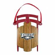 Philadelphia Eagles Metal Sled Tree Ornament