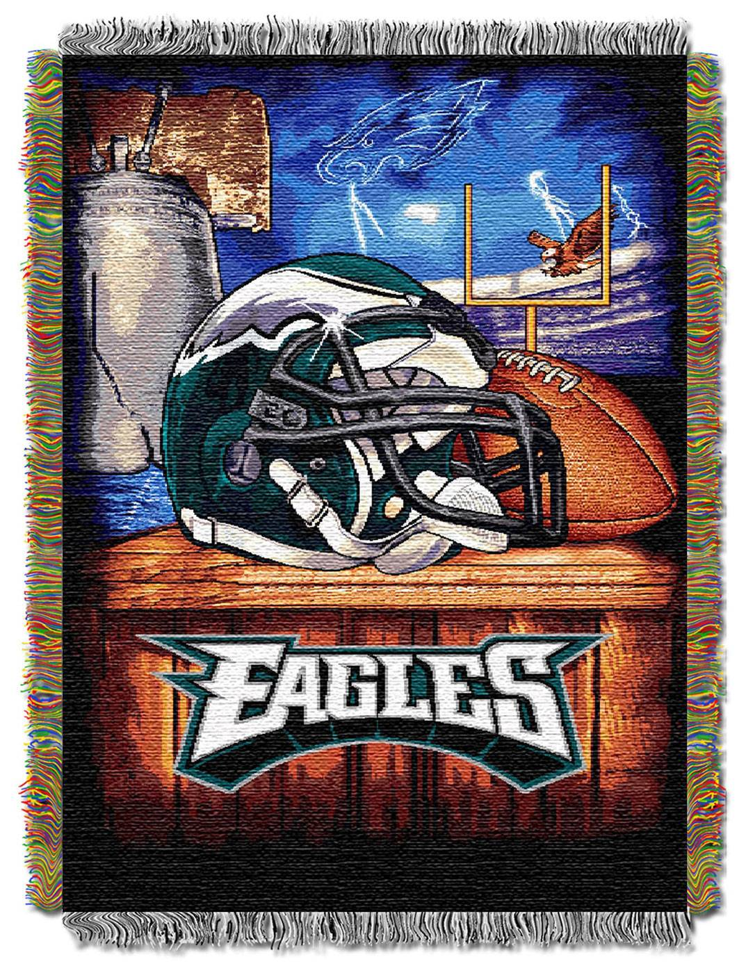 Notre dame bathroom accessories - Philadelphia Eagles Nfl Woven Tapestry Throw