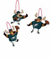 Philadelphia Eagles Reindeer Ornaments