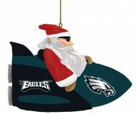 Philadelphia Eagles Rocket Santa Ornament