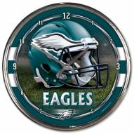 Philadelphia Eagles Round Chrome Wall Clock