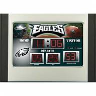 Philadelphia Eagles Scoreboard Desk Clock